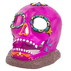 Top Fin® Day of the Dead Skull Aquarium Ornament